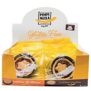 Crostatine senza glutine con espositore