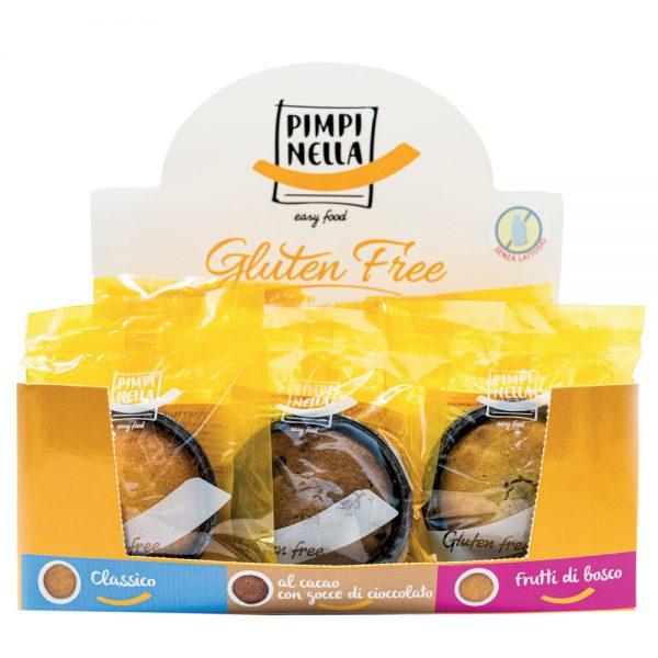 Tortini senza glutine con espositore